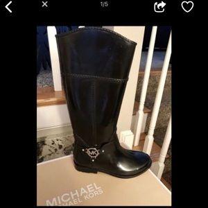 Michael Kors Rain Boots Black